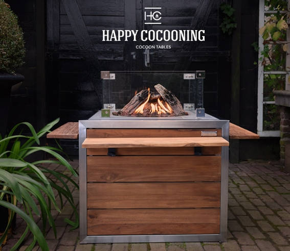 Happy cocoon table van hardhout