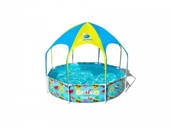 Bestway zwembad my first frame pool splash-in-shade play rond 244 x 51 cm
