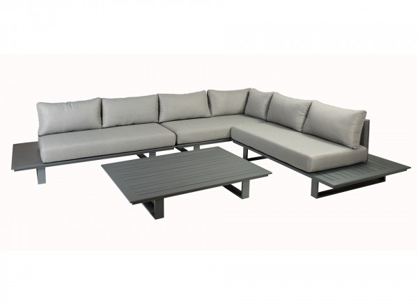 Tierra Outdoor Bora Bora alu loungebank complete set