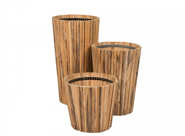 Tierra Outdoor Planter Wood set van 3