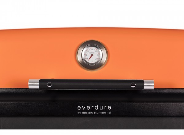 Everdure Furnace Barbecue Gas 50 mBar oranje thermemeter