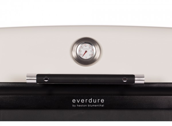 Everdure Furnace Barbecue Gas 30 mBar lichtgrijs thermometer