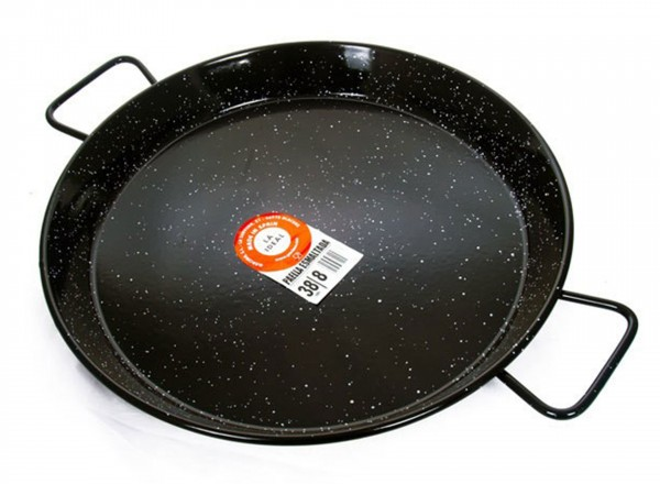 Paella pan emaille 50 cm - 10 pers.