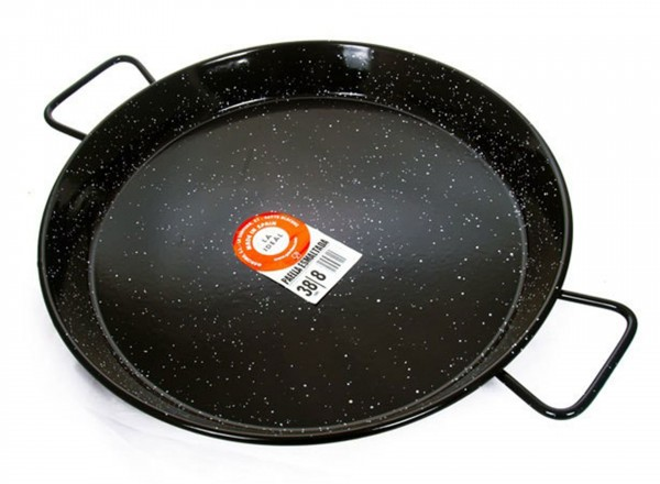 Paella pan emaille 60 cm - 15 pers.