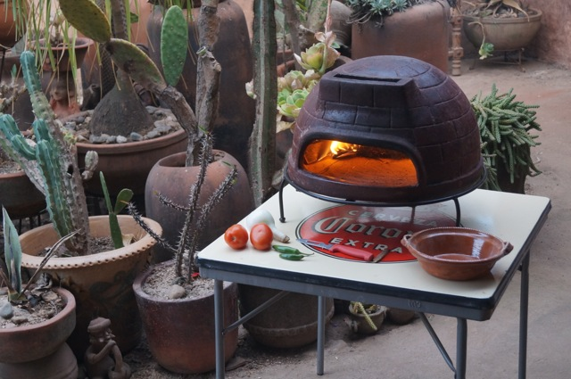 Hout gestookte mini pizza oven