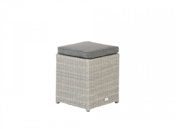 Tierra Outdoor Fredo lounge krukje weathered grey 40 x 40 x 45 cm