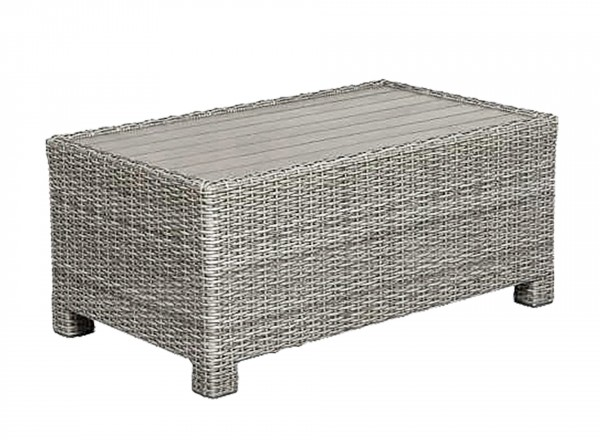 Tierra Outdoor Fredo lounge lage tafel weathered grey 90 x 56 x 41 cm