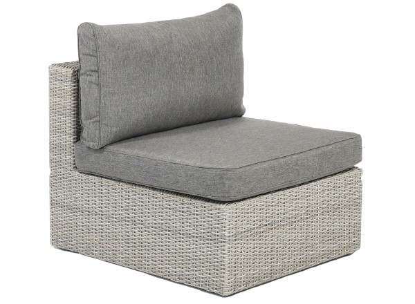 Tierra Outdoor Illias loungebank middengedeelte weathered grey 84 x 72 x 67 cm