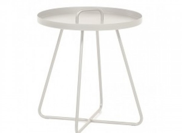 Tierra Outdoor Portals hoge butlertray wit 50 x 50 x 65 cm