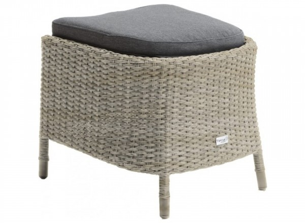 Tierra Outdoor Toledo hocker weathered grey